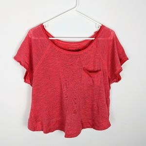 Free People Burnout Short Sleeve T-Shirt crewneck